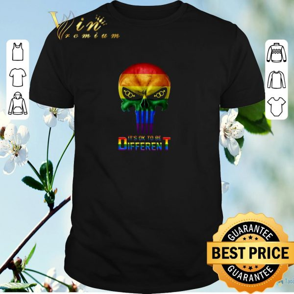 Premium Punisher LGBT It's ok to be different shirt