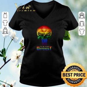 Premium Punisher LGBT It's ok to be different shirt 1