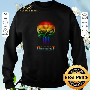 Premium Punisher LGBT It's ok to be different shirt 2