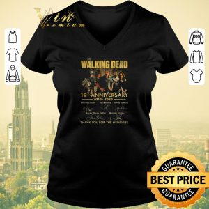 Premium The Walking Dead 10th anniversary 2010 2020 signatures thank you for the memories shirt sweater 1