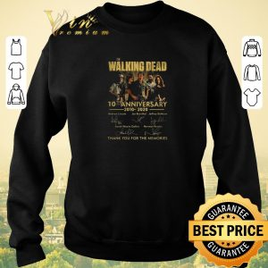Premium The Walking Dead 10th anniversary 2010 2020 signatures thank you for the memories shirt sweater 2