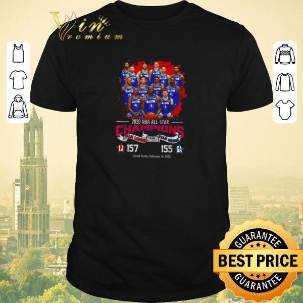 Pretty 2020 NBA All-star Champions team Lebron 157 team Giannis 155 shirt sweater