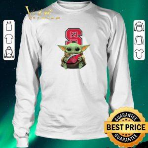 Pretty Baby Yoda Hug NC State Wolfpack Ball Logo Star Wars shirt sweater 2