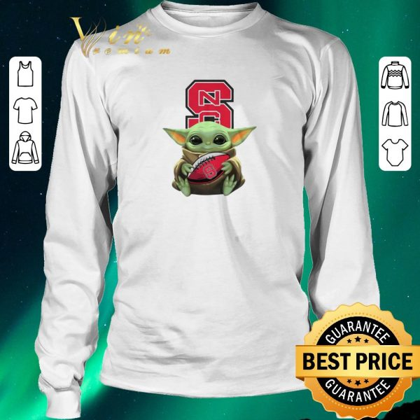Pretty Baby Yoda Hug NC State Wolfpack Ball Logo Star Wars shirt sweater