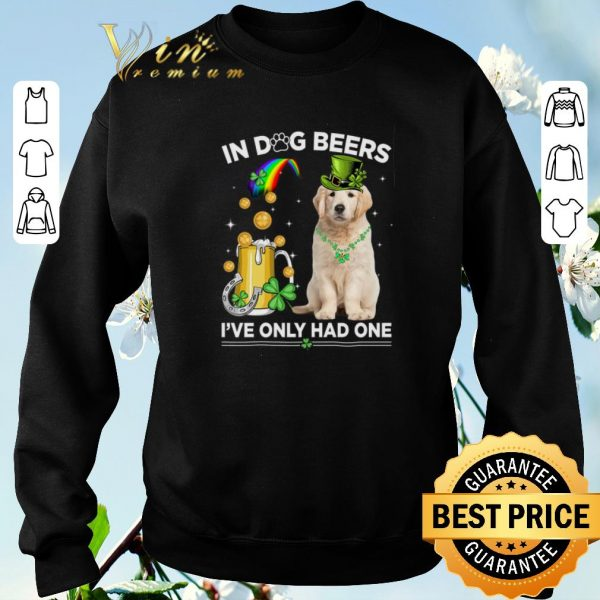 Pretty Golden Retriever in dog beers i've only had one St Patrick's day shirt sweater