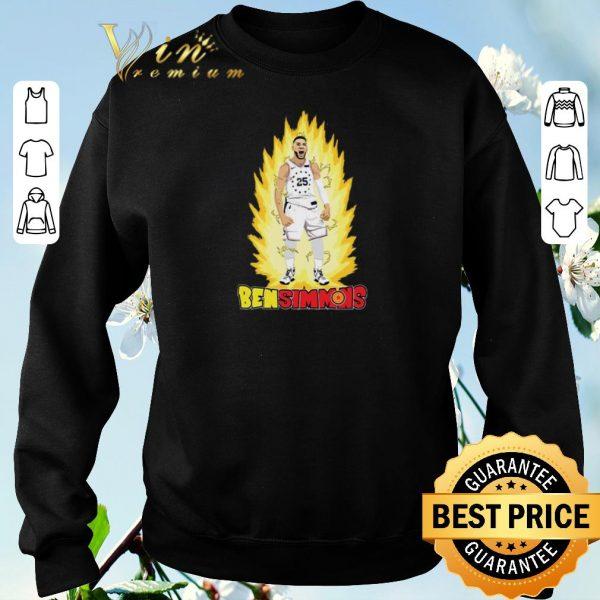 Pretty He's On Fire Ben Simmons mashup Dragon Ball Z shirt sweater
