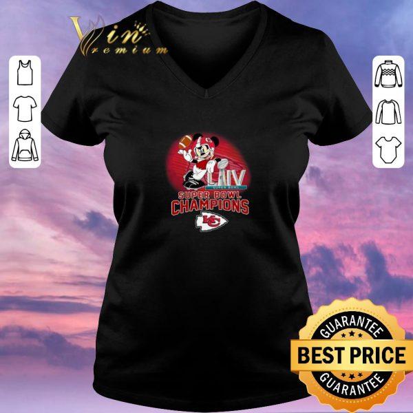 Pretty Mickey Mouse mashup Kansas City Chiefs Super Bowl LIV Champions shirt sweater