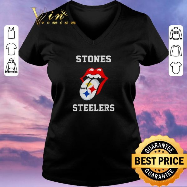 Pretty Rolling Stones Logo Pittsburgh Steelers shirt sweater