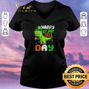Pretty St. Patrick's Day happy St. Pat trex day shirt sweater 1