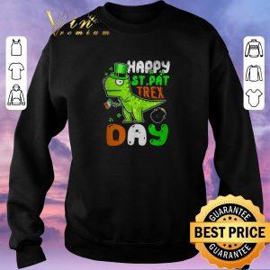 Pretty St. Patrick's Day happy St. Pat trex day shirt sweater 2