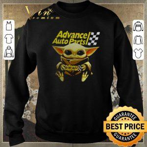 Pretty Star Wars Baby Yoda hug Advance auto parts shirt sweater 2