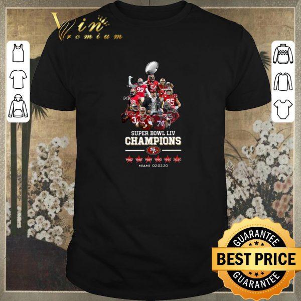 Pretty Super Bowl LIV Champions San Francisco 49ers signatures Miami shirt