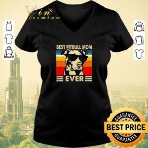 Pretty Vintage Best Pitbull Mom Ever shirt sweater