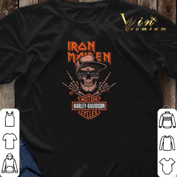 Rock skeleton Iron Maiden Motor Harley Davidson Cycles shirt sweater