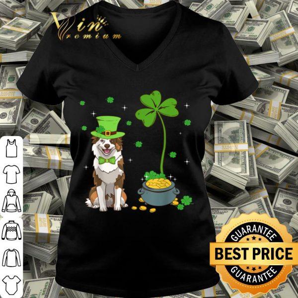 Shamrock Leprechaun Australian Shepherd St Patrick's Day shirt