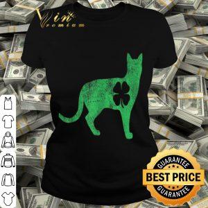 St. Patrick's Day Shamrock Cat Irish Catrick's Catty's T-shirt