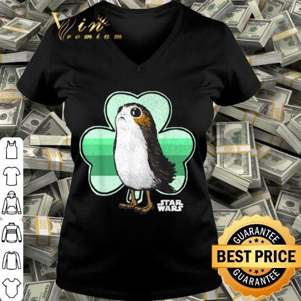 Star Wars Porg Clover Saint Patrick's Day Graphic shirt