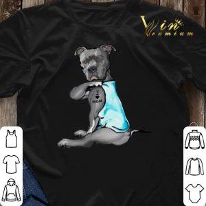 Strong Pitbull i love mom tattoo shirt sweater 2