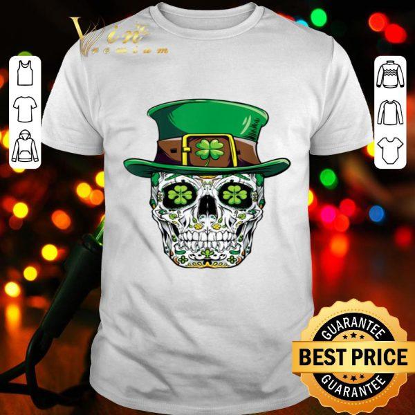 Sugar Skull Leprechaun St Patricks Day Irish Women Men Gifts shirt