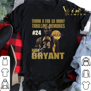 Thank thrilling memories Los Angeles Lakers 24 Kobe Bryant RIP shirt sweater