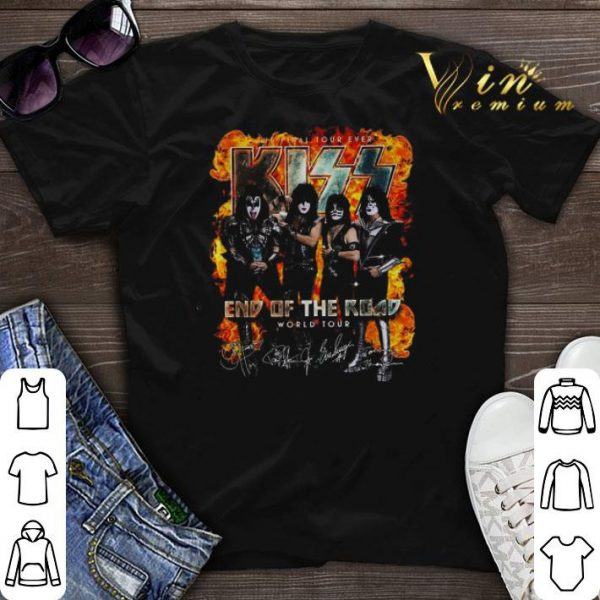 The Final Tour Ever Kiss End Of The Road World Tour Signature shirt sweater