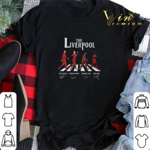 The Liverpool Abbey Road signatures Virgil Van Dijk M. Salah shirt sweater 1