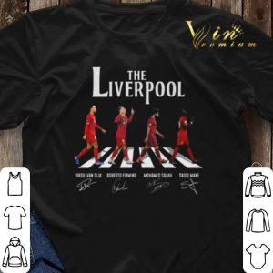 The Liverpool Abbey Road signatures Virgil Van Dijk M. Salah shirt sweater 2