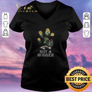 Top Cactus Sunflower Not A Hugger shirt sweater 1