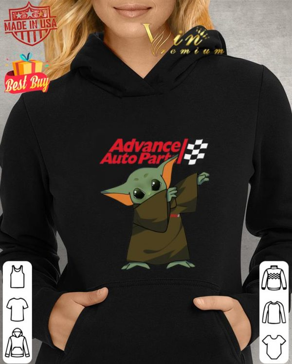 Top Dabbing Baby Yoda Mashup Advance Auto Parts Star Wars shirt