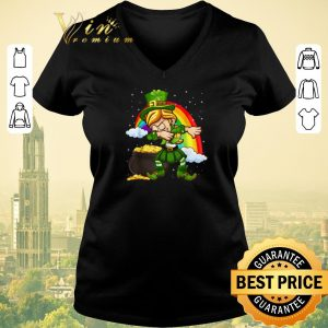 Top Dabbing Leprechaun St. Patrick's Day Rainbow shirt sweater