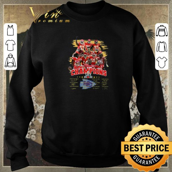 Top Kansas City Chiefs Super Bowl LIIV Champions signatures shirt sweater