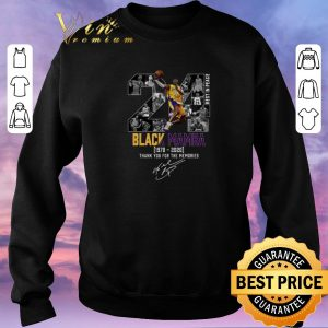 Top Kobe Bryant 24 Rest In Peace Black Mamba 1978 2020 thank you for the memories signed shirt sweater 2