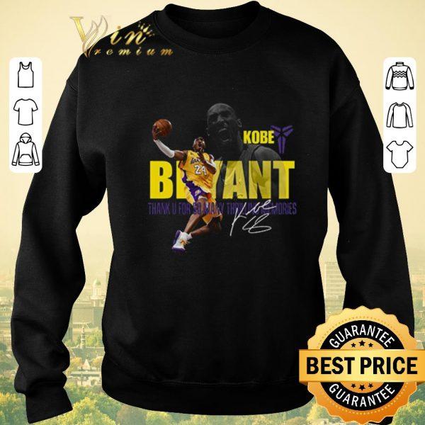 Top Kobe Bryant Los Angeles Lakers Thank U For So Thrilling Memories shirt sweater