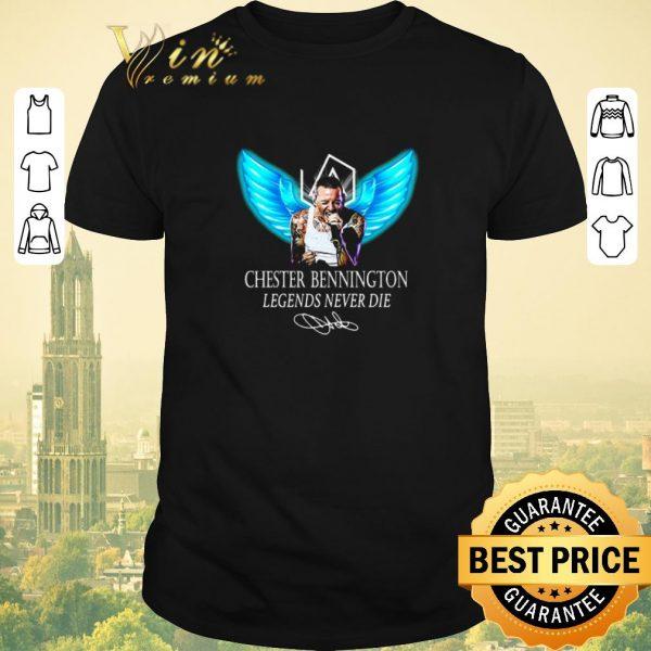 Top RIP Chester Bennington Legends Never Die signature Linkin Park Logo shirt sweater