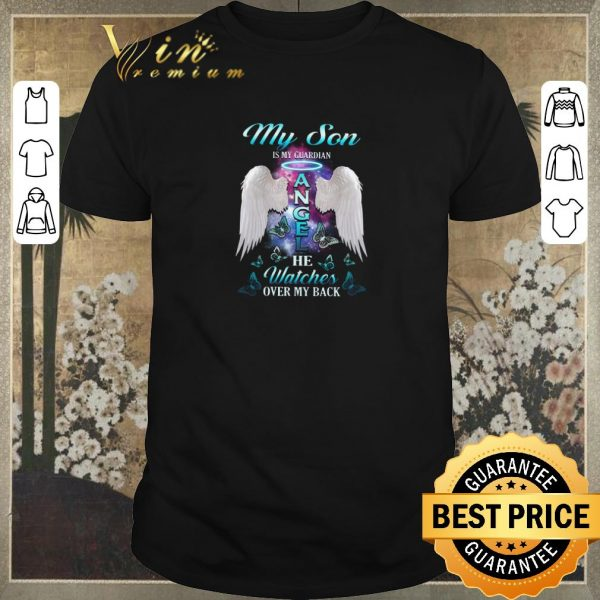 Top Wings my son is my guardian angel he watches over my back shirt sweater