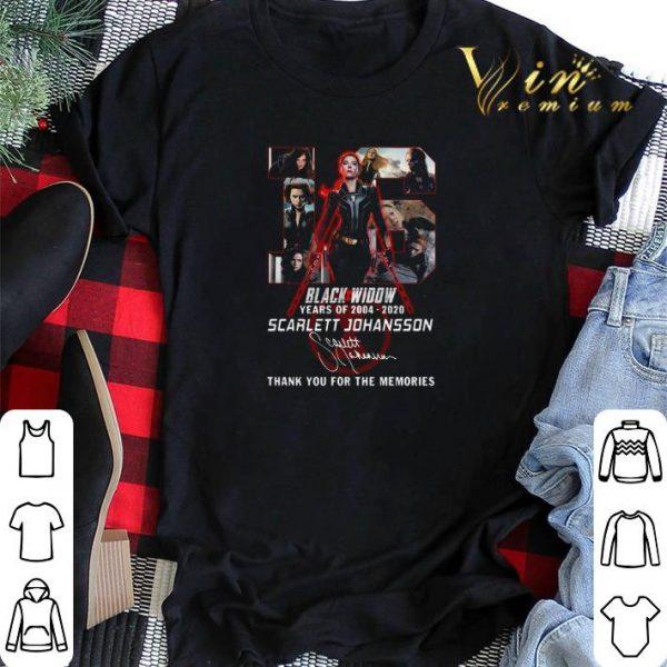 16 Black Widow years of 2004 2020 Scarlett Johansson signature shirt sweater