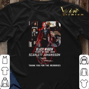 16 Black Widow years of 2004 2020 Scarlett Johansson signature shirt sweater 2