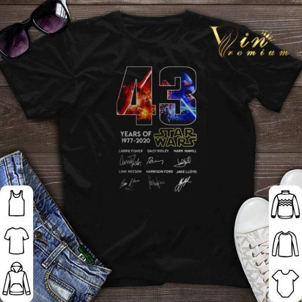 43 years of Star Wars 1977 2020 all signature shirt sweater