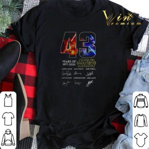 43 years of Star Wars 1977 2020 all signature shirt sweater