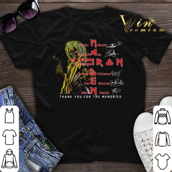 45 years 1975-2020 Iron Maiden signatures Nicko McBrain shirt