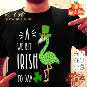 A We Bit Irish To Day Flamingo For St. Patrick's Day T-shirt