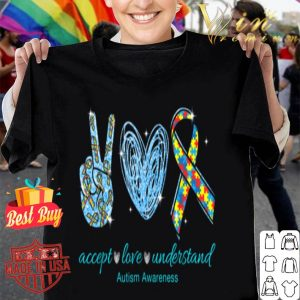 Accept Love Understand Autism Awareness Puzzle Ribbon shirt