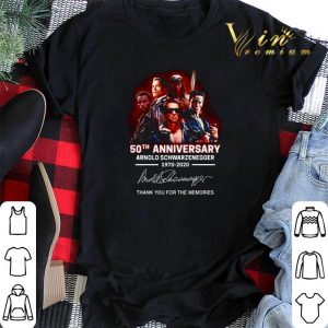 Arnold Schwarzenegger 50th anniversary 1970-2020 The Terminator shirt sweater 1