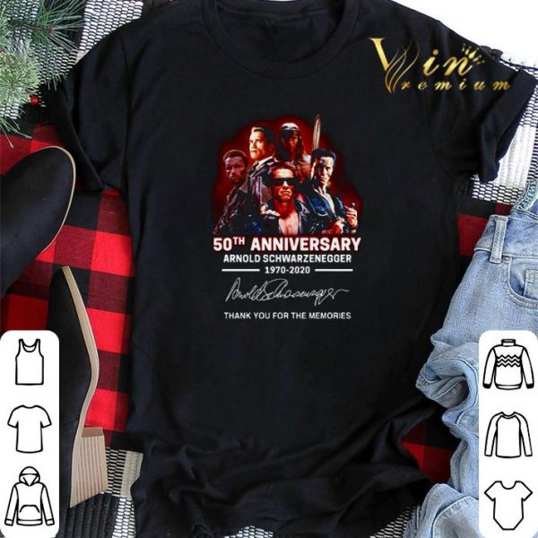 Arnold Schwarzenegger 50th anniversary 1970-2020 The Terminator shirt sweater