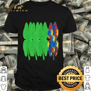 Autism Shamrock Clover St Patrick's Day Gift Tshirt
