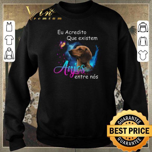 Awesome Dachshund eu acredito que existem anjos entre nos shirt sweater