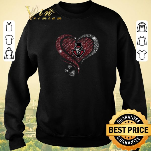 Awesome Diamond heart love Austin Peay Governors logo shirt sweater