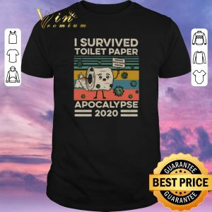 Awesome I survived toilet paper apocalypse 2020 Coronavirus vintage shirt sweater