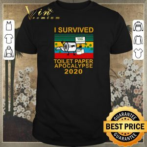 Awesome I survived toilet paper apocalypse 2020 vintage shirt sweater