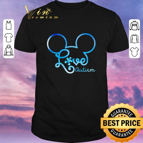 Awesome Mickey head love autism awareness shirt sweater